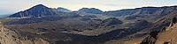 Panorama taken from Kalahaku Overlook at Haleakala National Park.
