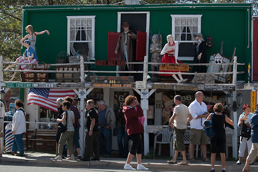 Tourists flock to Route 66 in town of Seligman Arizona