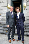 Cian O Brion Hotel Meyrick General Manager and  football player Stephen Hunt at the Hotel Meyrick . Photo:Andrew Downes
