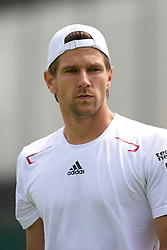 LONDON, ENGLAND - Wednesday, June 23, 2010: Jurgen Melzer (AUT) during the Gentlemen's Singles 2nd Round on day three of the Wimbledon Lawn Tennis Championships at the All England Lawn Tennis and Croquet Club. (Pic by David Rawcliffe/Propaganda)