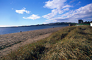 Sandy beach on the banks of the River Tay, Broughty Ferry, Angus, Scotland