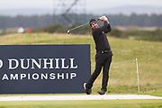 3rd October 2017, The Old Course, St Andrews, Scotland; Alfred Dunhill Links Championship, practice round; Richard Bland of England tees off on the sixteenth hole during a practice round on the Old Course, St Andrews before the Alfred Dunhill Links Championship