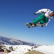 Samuel Murphy, Australia, in action during the Men's Half Pipe competition at the Burton New Zealand Open 2011 held at Cardrona Alpine Resort, Wanaka, New Zealand, 9th August 2011. Photo Tim Clayton