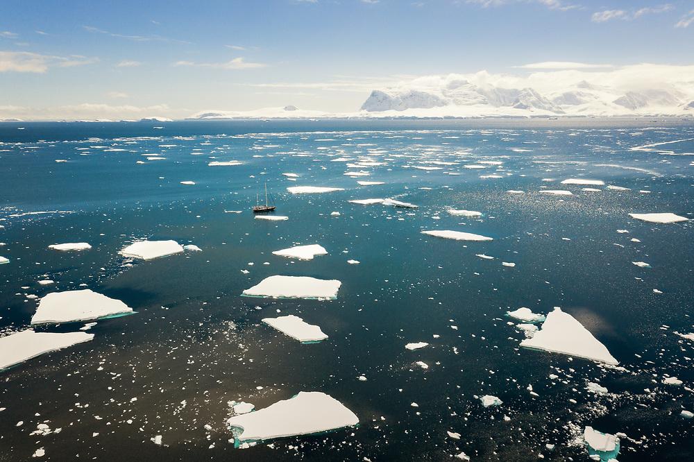 Sea ice of Orne Harbour, Antarctica