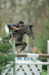 Vinckx Wim, (BEL), Beekjes Franca<br /> LRV Ponies Boortmeerbeek 2001<br /> Photo © Dirk Caremans