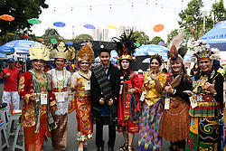 JAKARTA, Aug. 18, 2018  Performers pose for pictures before the opening ceremony of the 18th Asian Games in Jakarta, Indonesia, Aug. 18, 2018. The opening ceremony of the 18th Asian Games will be held here on the evening of Aug. 18. (Credit Image: © Huang Zongzhi/Xinhua via ZUMA Wire)