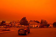 Keizer neighborhood under smoke from the 2020 Oregon wildfires.