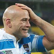 Argentina Captain Felipe Contepomi after their sides 13-12 victory during the Argentina V Scotland, Pool B match at the IRB Rugby World Cup tournament. Wellington Regional Stadium, Wellington, New Zealand, 25th September 2011. Photo Tim Clayton...