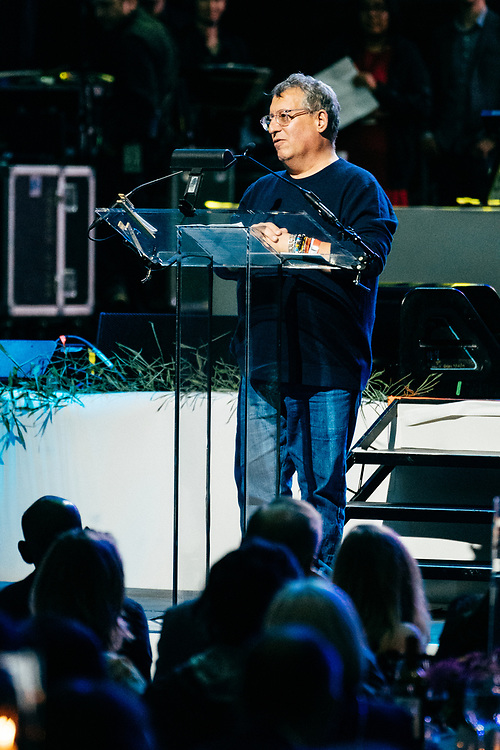 NEW YORK, NY/US - SEPTEMBER 26, 2019: Marty Diamond speaks onstage at SummerStage in Central Park as part of the City Parks Foundation 30 Gala & Concert in Manhattan. PHOTO CREDIT: Eric M. Townsend