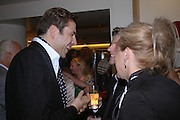 David Walliams and Christopher Bailey. Christopher Bailey hosts a party to celebrate the launch of ' The Snippy World of New Yorker Fashion Artist Michael Roberts' Burberry, New Bond St.  London. 19  September 2005. ONE TIME USE ONLY - DO NOT ARCHIVE © Copyright Photograph by Dafydd Jones 66 Stockwell Park Rd. London SW9 0DA Tel 020 7733 0108 www.dafjones.com