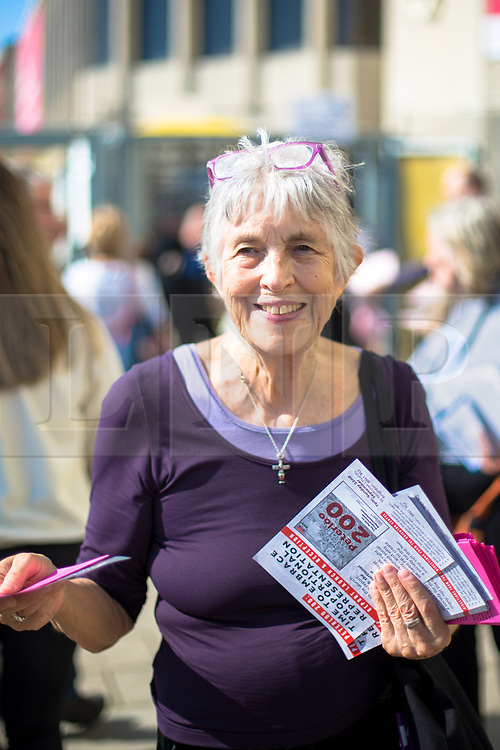 @Licensed to London News Pictures 21/09/2019. Brighton, UK. Labour campaigners leafleting supporters entering the Labour Party Conference in Brighton. The conference is due to finish on wednesday the 25th of September. Photo credit: Manu Palomeque/LNP