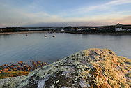 Dawn light over Old Town Bay, St Mary's, Isles of Scilly, UK