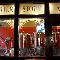 Canada, Nova Scotia, Guysborough. Microbrew Kettles at Rare Bird Brew Pub.
