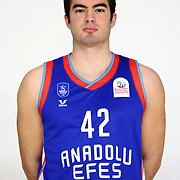 Anadolu Efes's Yusuf Eren Akbıyık during the 2020-2021 Garanti BBVA BGL Media Day at the Anadolu Efes Sports Hall on February 02, 2021 in İstanbul, Turkey. Photo by Aykut AKICI/TURKPIX