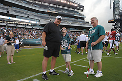 PHILADELPHIA - AUGUST 2:  Philadelphia Eagles Flight Night during training camp on August 2, 2009 at Lincoln Financial Field in Philadelphia, Pennsylvania. The Eagles held this special training camp practice for the fans called Flight Night. (Photo by Drew Hallowell)