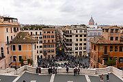 Spanish Steps. Images of Rome, Italy during the Christmas Holidays.