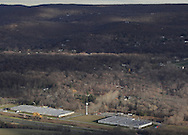 Mountainville, New York - The New York State Thruway and the former Star Expansion facility are visible in the lower part of this view from Schunnemunk Mountain on Nov. 28, 2010.
