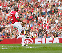Photo: Steve Bond.<br />Arsenal v Derby County. The FA Barclays Premiership. 22/09/2007. Abou Diaby watches his shot fly into the Derby net