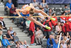 Rutger Koppelaar op 5,36m welke hoogte hij bijna haalde bij het EK atletiek in Berlijn op 10-8-2018