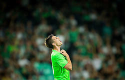Miha Zajc of NK Olimpija reacts during 1st Leg football match between NK Olimpija Ljubljana (SLO) and FK AS Trenčin (SVK) in Second Qualifying Round of UEFA Champions League 2016/17, on July 13, 2016 in SRC Stozice, Ljubljana, Slovenia. Photo by Vid Ponikvar / Sportida