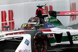 April 28, 2018 - Paris, Ile-de-France, France - Germany's Daniel Abt of the Formula E team Audi Sport Abt Schaeffler  competes during the practice session of the French stage of the Formula E championship around The Invalides Monument close to The Eiffel Tower in Paris on April 28, 2018. (Credit Image: © Michel Stoupak/NurPhoto via ZUMA Press)