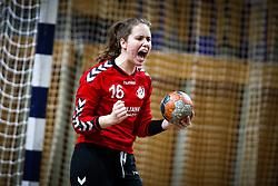 Karin Kuralt of RK Olimpija celebrates during handball match between RK Olimpija and RK Krim Mercator in Round #13 of National Youth League in Season 2020-21, on May 23, 2021 in Hala Tivoli, Ljubljana, Slovenia. Photo by Matic Klansek Velej / Sportida