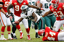 Philadelphia Eagles running back LeSean McCoy #29 runs the ball during the NFL game between the Kansas City Chiefs and the Philadelphia Eagles on September 27th 2009. The Eagles won 34-14 at Lincoln Financial Field in Philadelphia, Pennsylvania. (Photo By Brian Garfinkel)