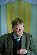 Veteran British author, playwright and humourist Allan Bennett, pictured at the Edinburgh International Book Festival, where he gave a talk about his work, in his first public appearance in Scotland for over 40 years..