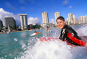 Boggieboarding, Waikiki, Oahu, Hawaii