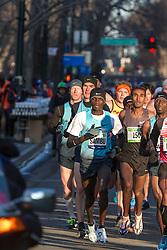 lead pack of elite men, Sambu