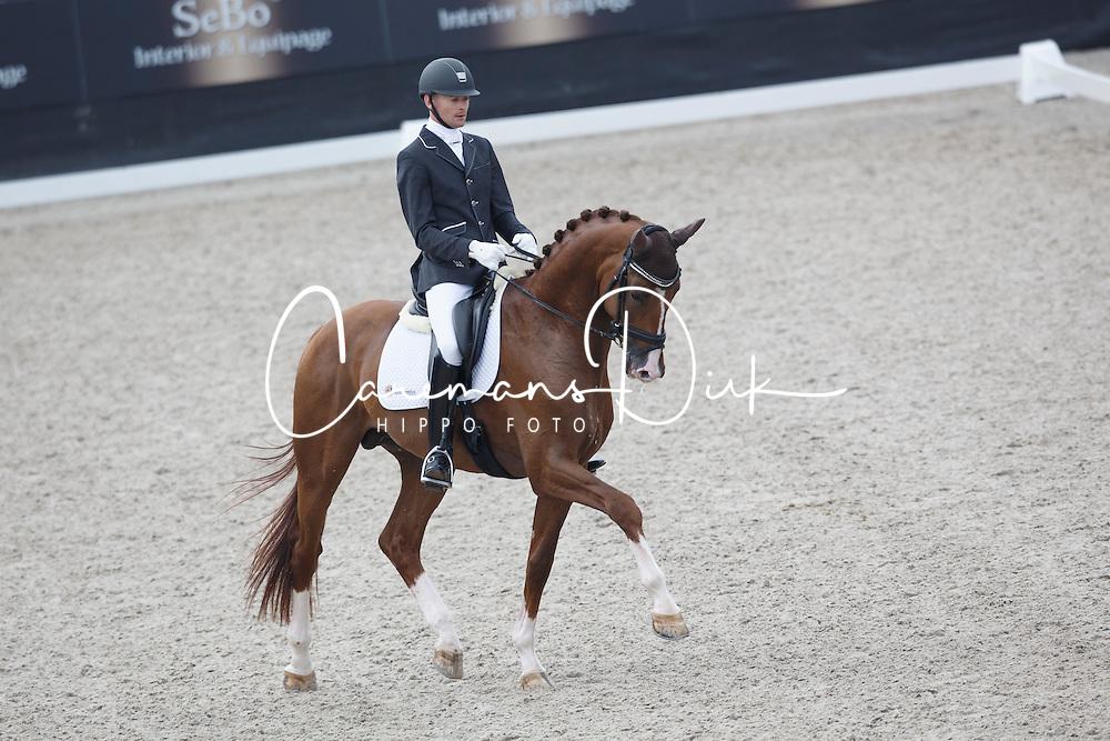 Hanson Theo, (NED), Fallatijn<br /> Selectie 5 jarige WK paarden<br /> Dutch Championship Dressage - Ermelo 2015<br /> © Hippo Foto - Dirk Caremans<br /> 18/07/15