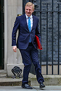 February 25, 2020, London, England, United Kingdom: Digital, Culture, Media and Sport Secretary Oliver Dowden leaving after attending a Cabinet meeting at 10 Downing Street, in London on Tuesday, Feb. 25, 2020. (Credit Image: © Vedat Xhymshiti/ZUMA Wire)
