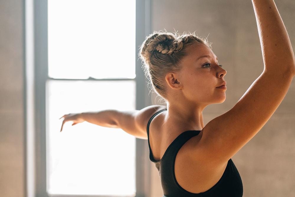 Ballerina holds her gaze