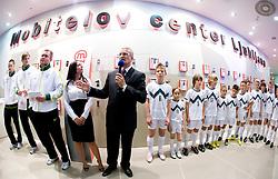 General manager of Mobitel Zoran Janko at visit  of Slovenian National Football team in Mobitel center, on May 19, 2010 in Ciytpark, BTC, Ljubljana, Slovenia. (Photo by Vid Ponikvar / Sportida)