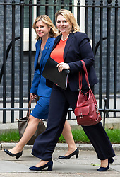 © Licensed to London News Pictures. 04/06/2018. London, UK. Justine Greening MP (L) and Secretary of State for Northern Ireland Karen Bradley (R) on Downing Street. Photo credit: Rob Pinney/LNP