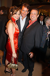 Left to right, CAROLE SILLER, TIM JEFFERIES and HAMISH McALPINE at a party to celebrate 100 years of Chinese Cinema hosted by Shangri-la Hotels and Tartan Films at Asprey, New Bond Street, London on 25th April 2006.<br /><br />NON EXCLUSIVE - WORLD RIGHTS