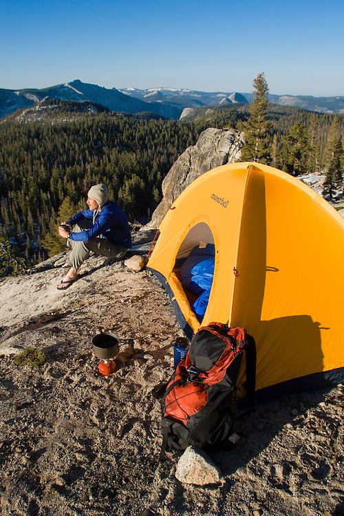Backpacking in Tuolumne Meadows. Yosemite National Park, CA