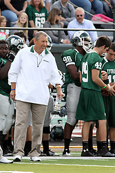 12 October 2013:  Coach Norm Eash became Illinois Wesleyans winningest coach at 169 wins passing a record set by Don Larson after the conclusion of this NCAA division 3 football game between the North Park vikings and the Illinois Wesleyan Titans in Tucci Stadium on Wilder Field, Bloomington IL