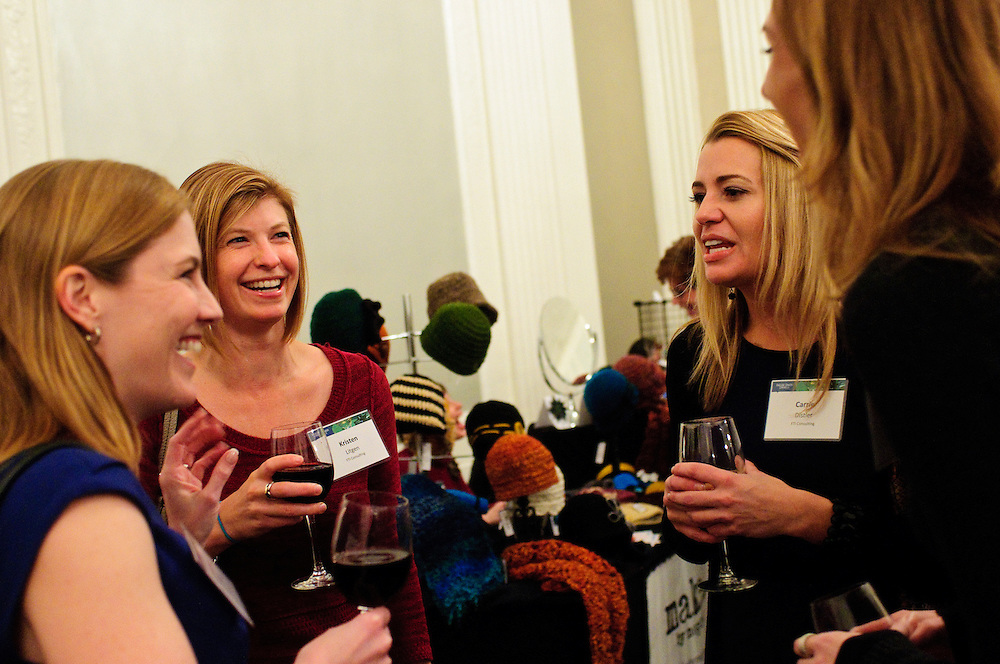 From left to right- Navistar Inc. Senior Counsel Shannon E. Masson chats with FTI Consulting Managing Director Kristen N. Litgen, FTI Managing Director Carrie L. Distler and Arrow Enterprise Computing Strategic Account Executive Laura J. Thurston during a holiday bazaar hosted by the women of Faegre Baker Daniels LLP at the W Chicago City Center Hotel on Thursday, November 29th. The second annual event features 25 booths featuring female entrepreneurs, artisans and artists. © 2012 Brian J. Morowczynski ViaPhotos