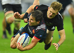 New Zealand's during a rugby union international match at Stade de France stadium in Saint Denis, outside Paris, France, Saturday, Nov. 11, 2017Photo by Christian<br /> Liewig/ABACAPRESS.COM