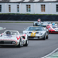Whitsun Trophy, Official Practice (20 mins) Saturday 09h20<br /> #45 - 1962 McKee-Chevrolet 'Mahrya'; #37 - 1965 Ford GT40; #46 - 1966 Lola-Chevrolet T70 Spyder at Goodwood SpeedWeek 16 - 18 October 2020