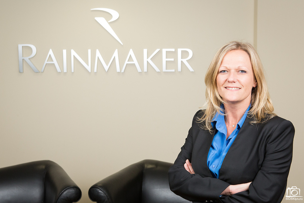 Christina Cherry, Vice President and General Manager, Global Commerce Services, of Rainmaker Systems, Inc., poses for a portrait at the Rainmaker Systems, Inc. campus in Campbell, California, on April 25, 2013. (Stan Olszewski/SOSKIphoto)