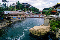 Indonesia, Sumatra. Bukit Lawang. Bukit Lawang is a small tourist village at the bank of Bahorok River.