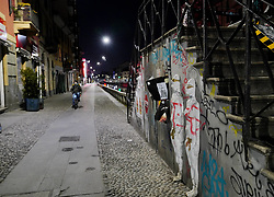 Milan, Coronavirus, Naviglio Great desert without nightlife during the day and during the day due to coronavirus emergency