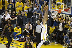 May 31, 2018 - Oakland, California, U.S - Shaun Livingston #34 of the Golden State Warrior goes for a  dunk during  their NBA Championship Game 1 with the s  Cleveland  Cavaliers at Oracle Arena in Oakland, California  on Thursday,  May 31, 2018. (Credit Image: © Prensa Internacional via ZUMA Wire)
