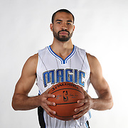 Orlando Magic guard Drew Crawford poses for the camera during the NBA Orlando Magic media day event at the Amway Center on Monday, September 29, 2014 in Orlando, Florida. (AP Photo/Alex Menendez)