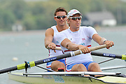 Caversham. United Kingdom;  GBR M2- Bow, Peter REED and Andy TRIGGS HODGE. Team GBR Rowing, 2010 World Championship Team Announcement at the GB rowing Training Base. Nr Reading Berks on Tuesday,  21/09/2010[Mandatory Credit Peter Spurrier/ Intersport Images],