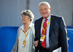 © Licensed to London News Pictures. 21/09/2011. BIRMINGHAM, UK.    Lord Paddy Ashdown and his wife arrive at the Liberal Democrat Conference at the Birmingham ICC today (21 Sept 2011): Stephen Simpson/LNP . Photo credit : Stephen Simpson/LNP