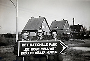 soldiers with direction sign Netherlands 1950s