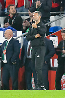 Football - 2018 / 2019 UEFA Nations League B - Group Four: Wales vs. Republic of Ireland<br /> <br /> Wales manager Ryan Giggs gives a thumbs up sign on the touchline, at Cardiff City Stadium.<br /> <br /> COLORSPORT/WINSTON BYNORTH